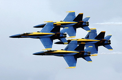 Blue Angels F/A Hornets Fly-By US Navy Photo Print