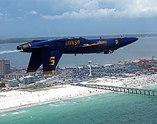 Blue Angels Jet No. 5 Inverted Flight Photo Print for Sale