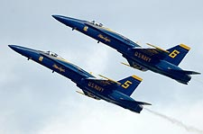 Blue Angels Jets No. 5 and No. 6 in Flight Photo Print for Sale