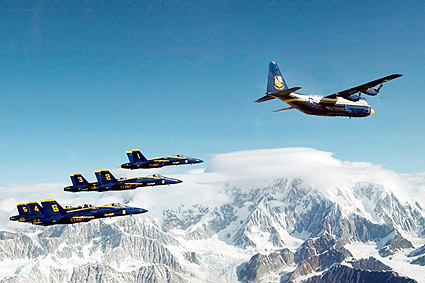 Blue Angels & Marine Corps C-130 Hercules Photo Print