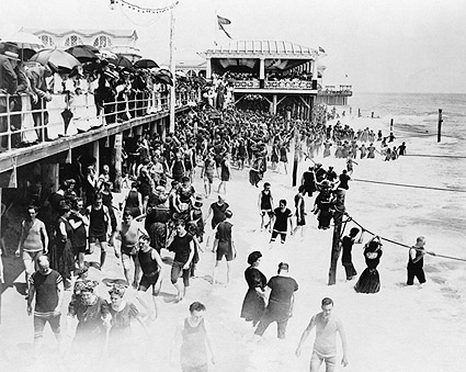 Boardwalk Asbury Park New Jersey Early 1900s Photo Print