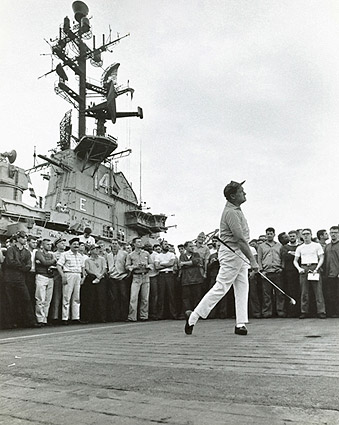 Bob Hope Golfing Aboard USS Ticonderoga Photo Print