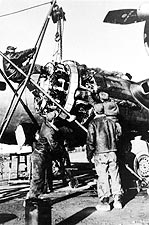 Boeing B-17 398th Bomb Group Engine Repair Photo Print for Sale