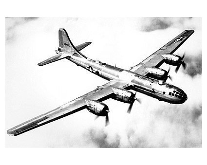 Boeing B-29 Superfortress in Flight WWII Photo Print