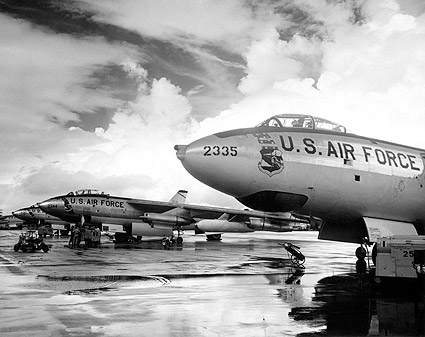 Boeing B-47 Stratojet Bombers Flight Line Photo Print