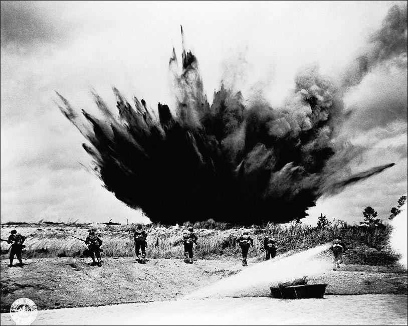 bomb-exploding-near-troops-wwii-photo-pr
