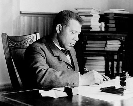 Booker T. Washington Portrait at Desk Photo Print
