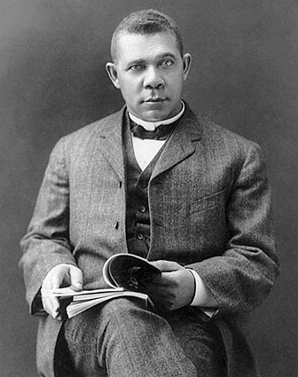 Booker T. Washington Seated Portrait Photo Print
