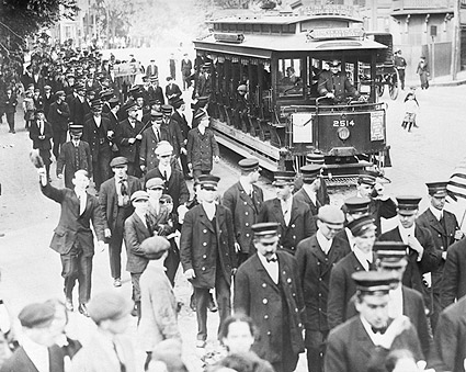 Boston Trolley Strike Early 1900s Photo Print