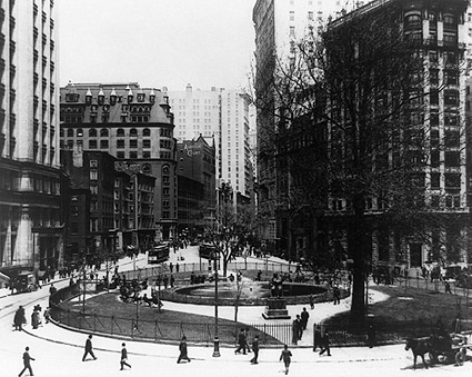 Bowling Green Park New York City 1907 Photo Print