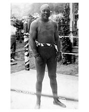 Boxer Jack Johnson Boxing Ring Portrait Photo Print for Sale