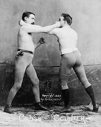 Boxers Demonstrate a Counter Punch 1890 Photo Print