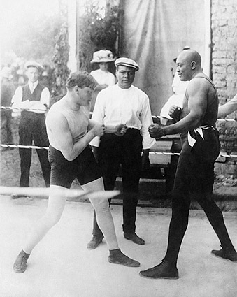 Boxers Marty Cutler Vs Jack Johnson 1914 Photo Print