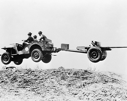 British Bantam Jeep Joy Ride WWII Soldiers Photo Print