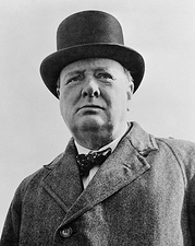 British Prime Minister Winston Churchill Photo Print