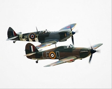 British WWII Spitfire & Hawker Hurricane Photo Print