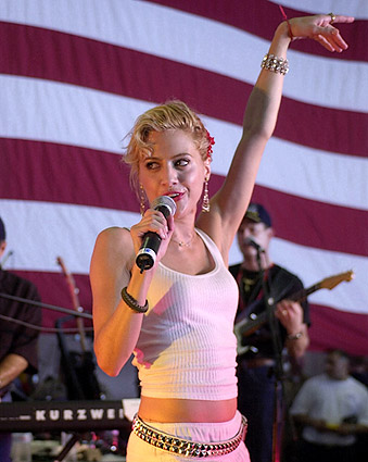 Brittany Murphy Entertains Troops Patriotic Photo Print