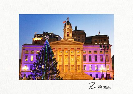 Brooklyn Borough Hall New York City Personalized Christmas Cards