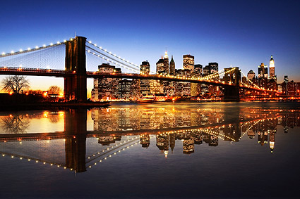 Brooklyn Bridge Dusk Photo Print