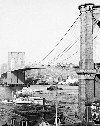 Brooklyn Bridge in New York City 1901 Photo Print