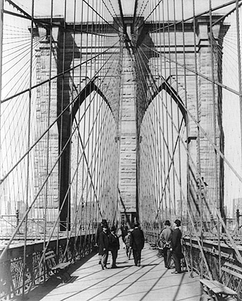 Brooklyn Bridge Tower New York City 1898 Photo Print