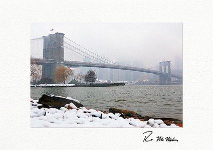 Brooklyn Bridge Winter New York City Boxed Christmas Cards