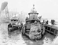 Brooklyn Navy Yard Pier US Tugboat 1946 Photo Print for Sale