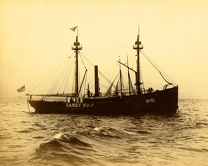 Brooklyn NY Lightship Sandy Hook 1900s Photo Print