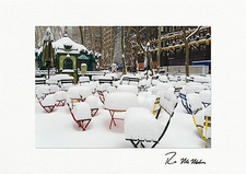 Bryant Park Snow Covered Chairs NYC Boxed Christmas Cards