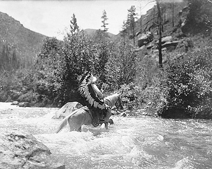 Bullchief Crossing Rapids Edward S. Curtis Photo Print
