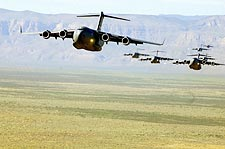 C-17 Globe Master III Aircraft Formation Photo Print for Sale
