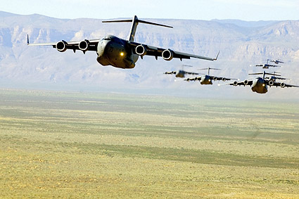 C-17 Globe Master III Aircraft Formation Photo Print