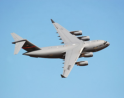 C-17 Globemaster Aircraft Banking Photo Print