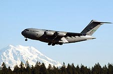 C-17 Globemaster III in Flight US Air Force Photo Print for Sale