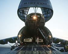 C-5 / C-5A Galaxy Transport Unloading Photo Print for Sale