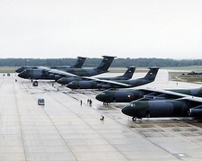 C-5 Galaxy & C-141 Starlifter on Flightline Photo Print