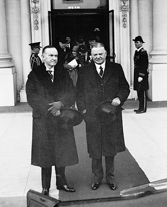 Calvin Coolidge and Herbert Hoover Photo Print