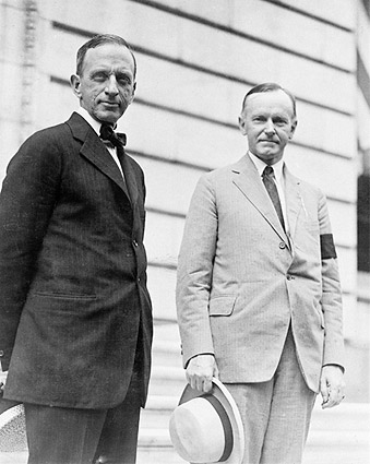 Calvin Coolidge & Edward T. Clark Portrait Photo Print