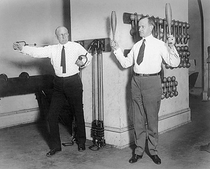 Calvin Coolidge Exercising in White House Gym Photo Print