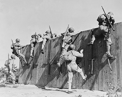 Camp Edwards, MA. Wall Training WWII Photo Print