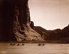 Canyon de Chelly Navajo Indians Edward S. Curtis Photo Print for Sale