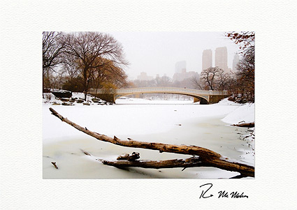 Central Park Bow Bridge Winter Boxed Holiday Cards