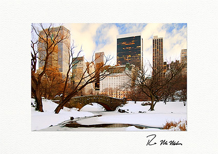 Central Park Bridge Winter New York City Boxed Christmas Cards