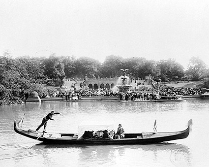 Central Park Gondola Bethesda Fountain 1894 Photo Print