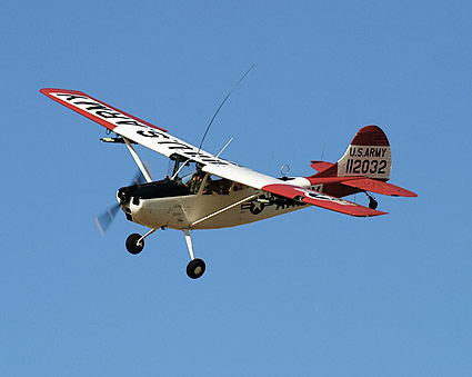 Cessna O-1 / O1 Bird Dog in Flight Photo Print