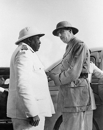 Charles de Gaulle & Governor General Eboue Photo Print