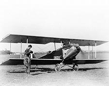 Charles Lindbergh & Sergeant Bell Biplane Photo Print for Sale