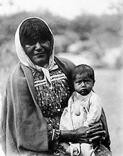 Chemehuevi Mother & Child Edward S. Curtis Photo Print for Sale