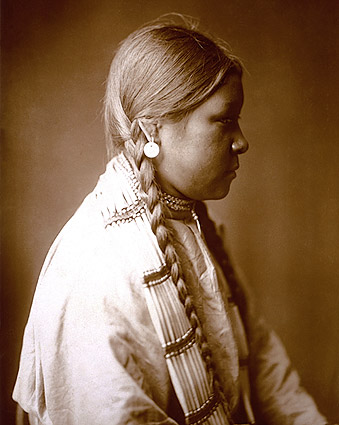Cheyenne Belle Edward S. Curtis Portrait Photo Print
