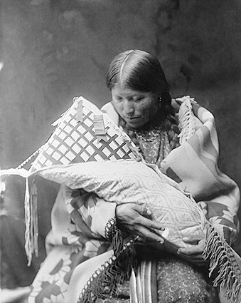 Cheyenne Indian Mother & Child Photo Print